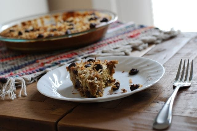 Flourless Chocolate Chip Coconut Cake