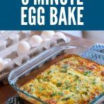 5 minute egg bake