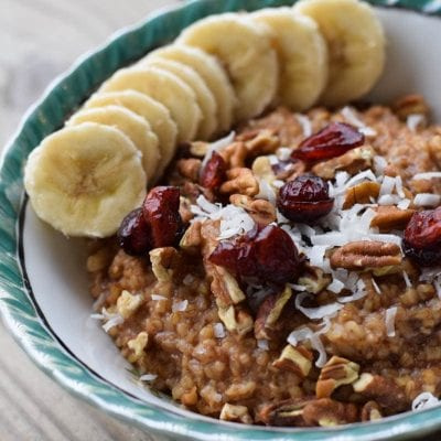 Apple Cranberry Instant Pot Steel Cut Oats
