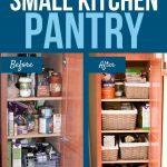 organize a small kitchen pantry