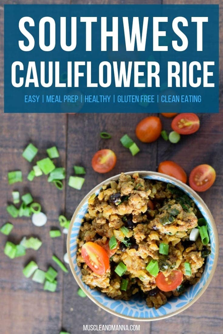southwest cauliflower rice skillet