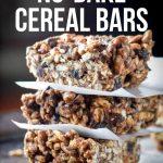 healthy no bake cereal bars