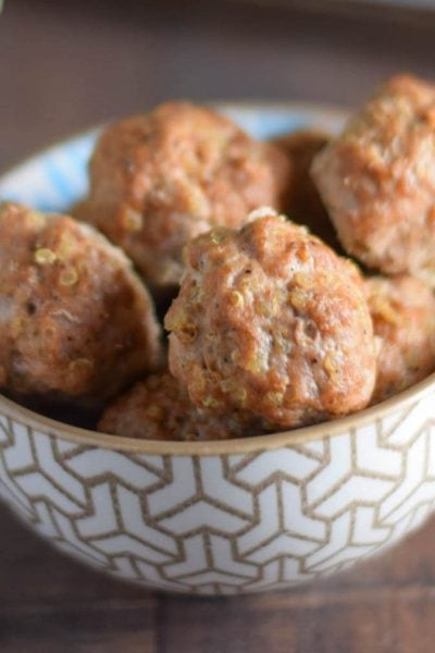 Spicy Turkey Quinoa Meatballs