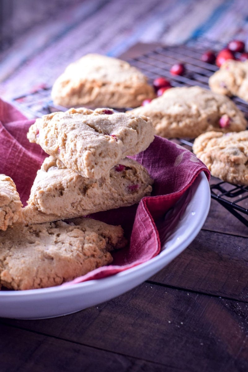 Whole Wheat Lemon Cranberry Scones