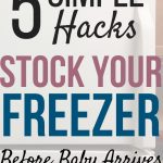 stocking your freezer before baby