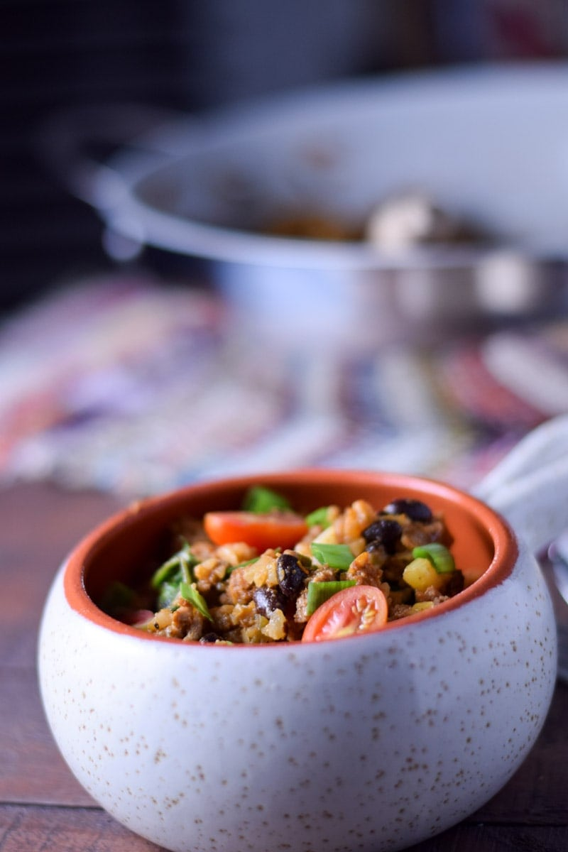 cauliflower rice bowl