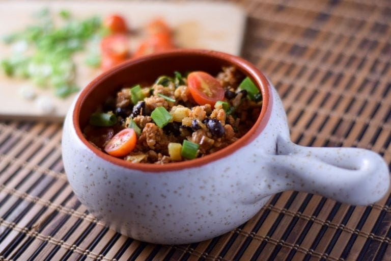 Southwest Cauliflower Rice Bowl