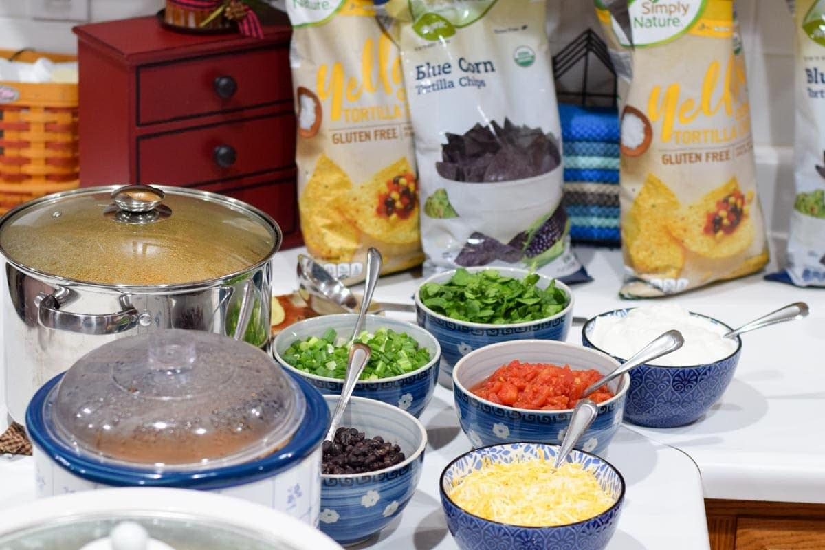 healthy taco bar party food