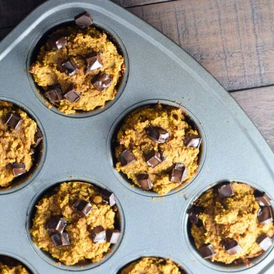 pan of healthy muffins