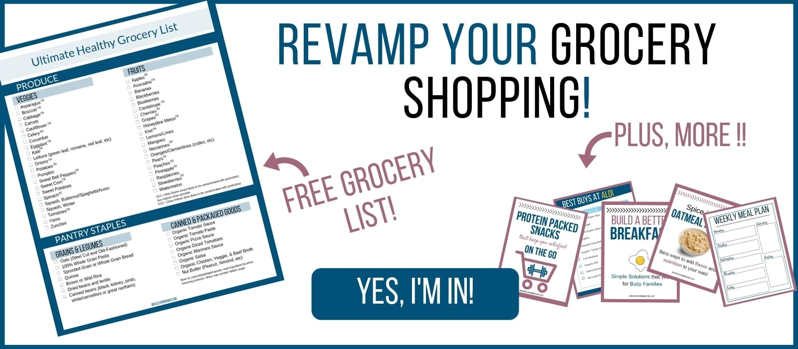 free healthy grocery list printable pdf