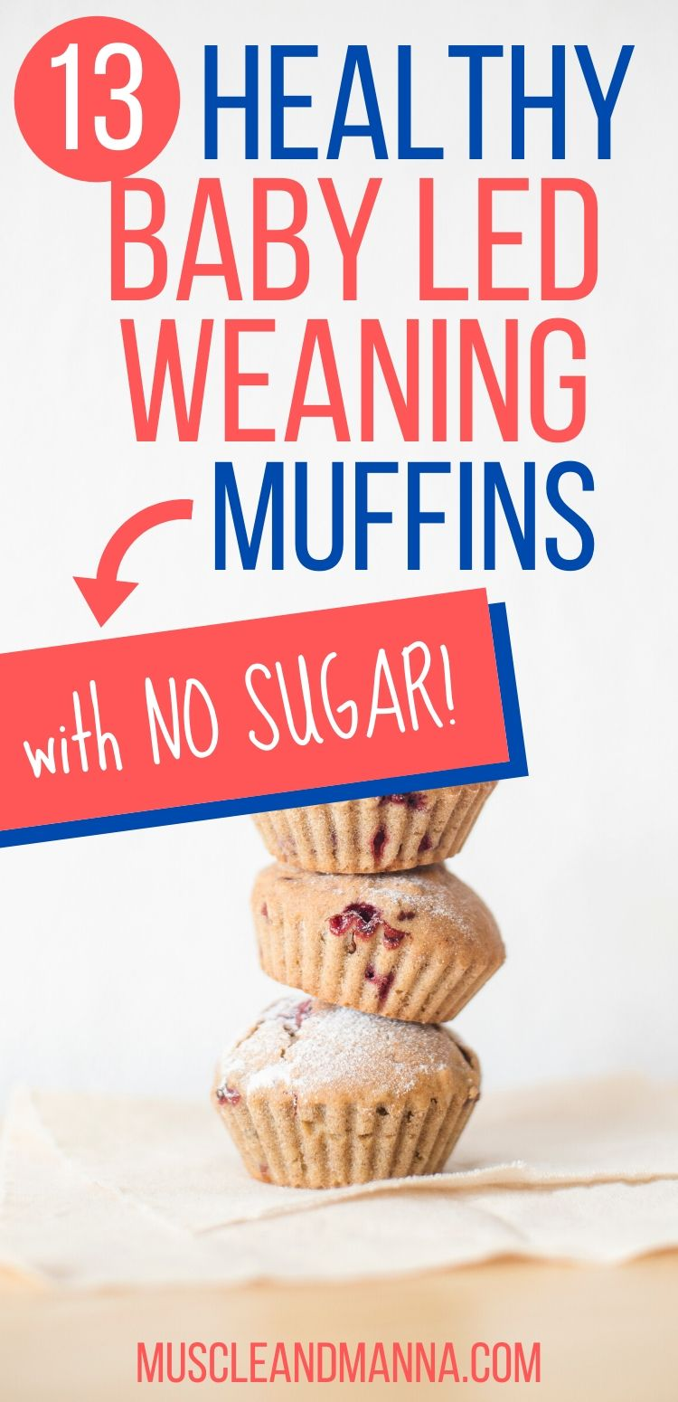 healthy sugar free baby led weaning muffins