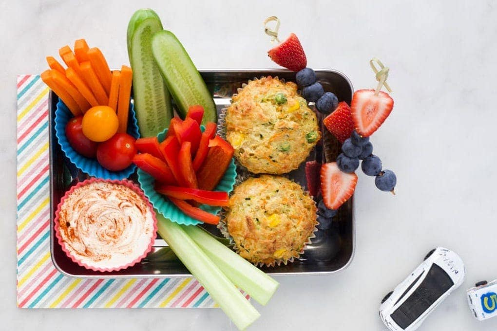 savoury BLW muffins for lunchbox
