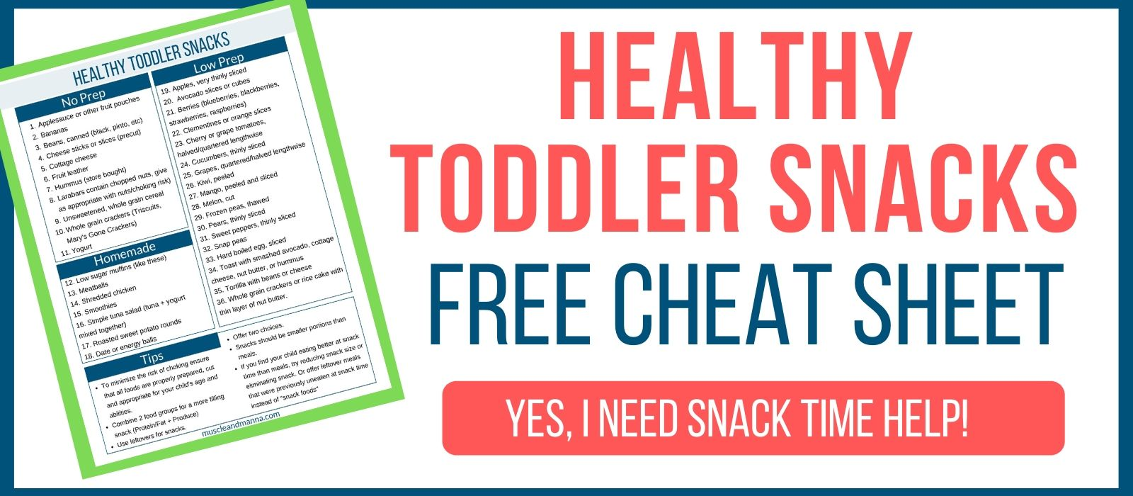 healthy toddler cheat sheet