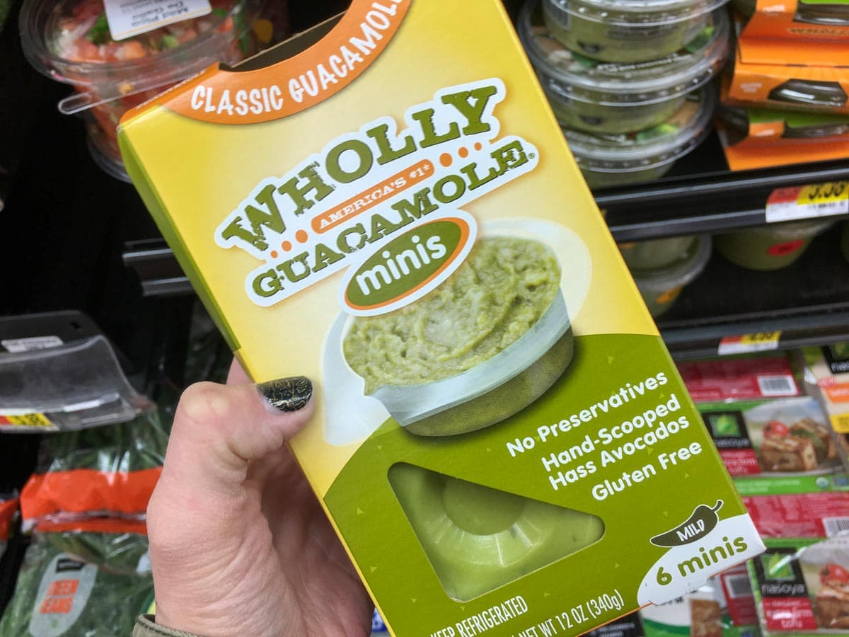 Mini Packaged Guacamole snack