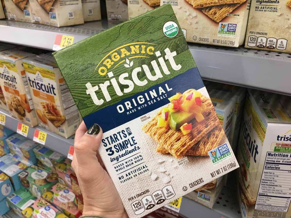 Organic Original Triscuits available at Walmart