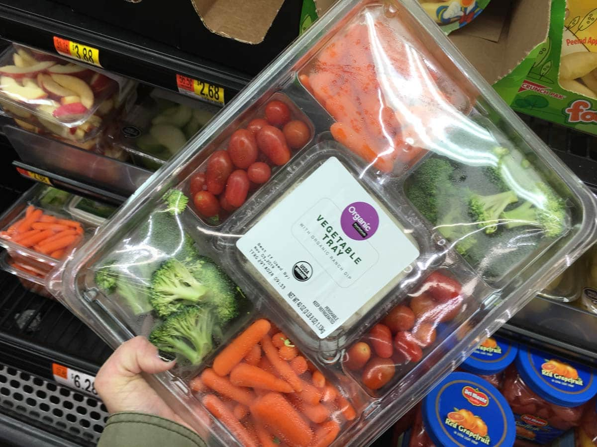 Veggie Tray - Healthy Snacks to buy at Walmart