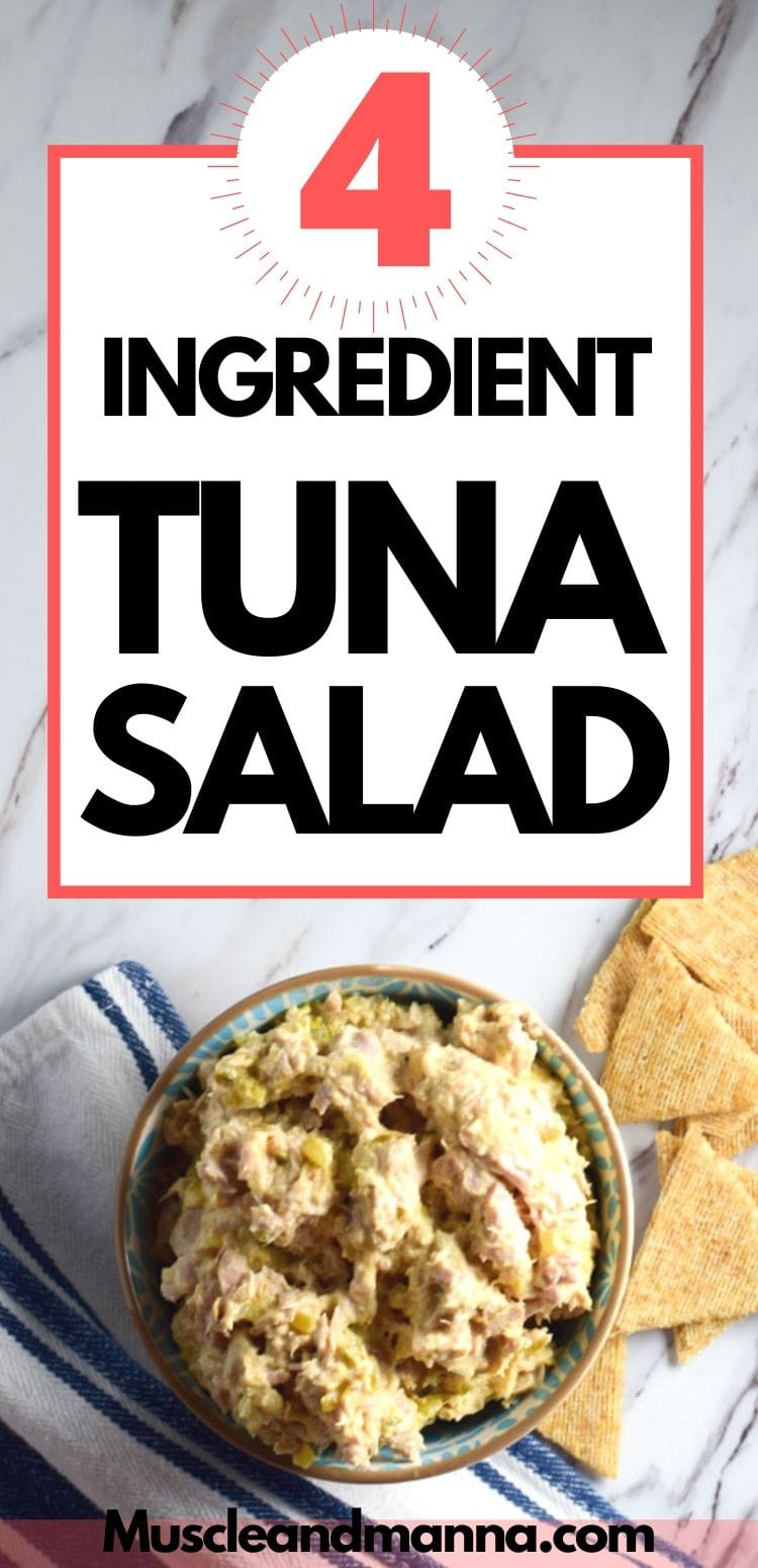 4 ingredient tuna salad made with greek yogurt