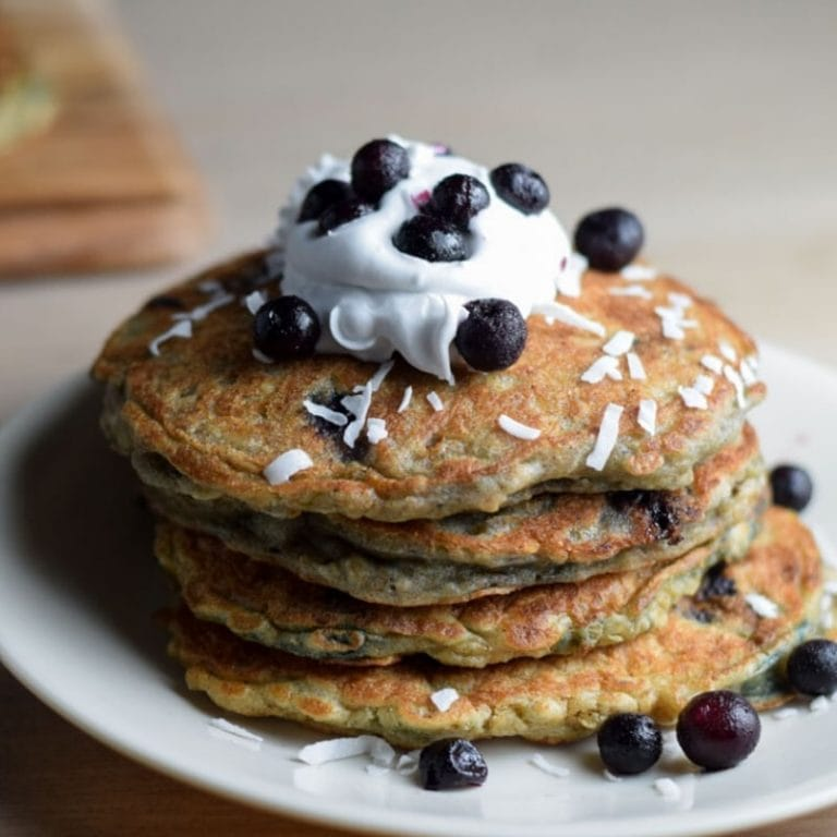 Coconut Cream Pancakes (Dairy Free + Healthy)
