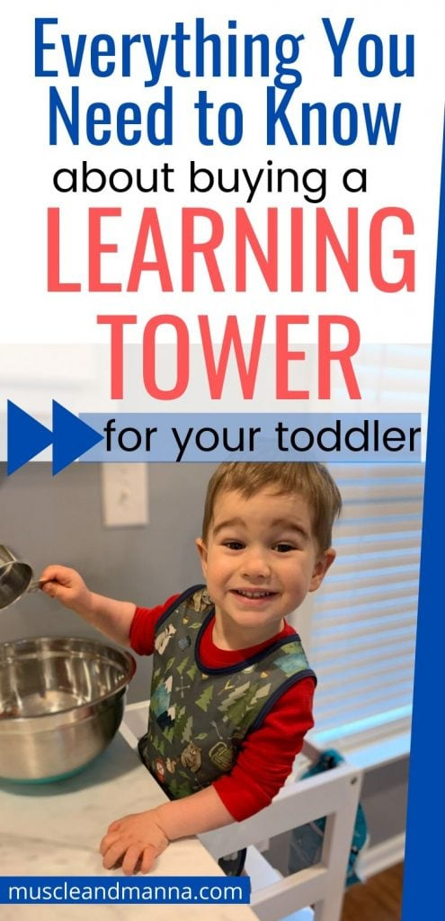 toddler cooking on a montessori learning tower