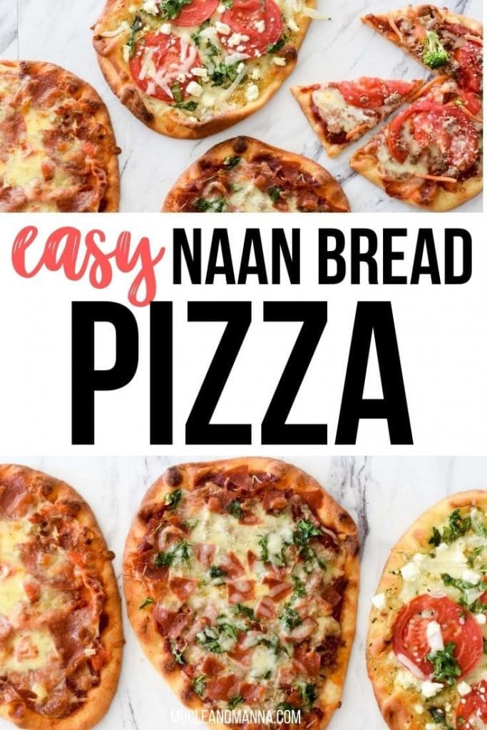 "naan pizza with words ""easy naan bread pizza"""