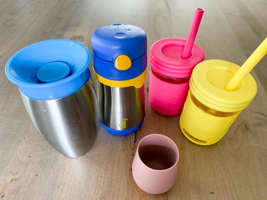 munchkin 360 stainless steel sippy cup, foogo stainless steel sippy cup, elk and friends glass straw cups, baby ezpz open cup