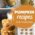 """pumpkin recipes for toddlers"" with photos of pumpkin baked goods for kids"