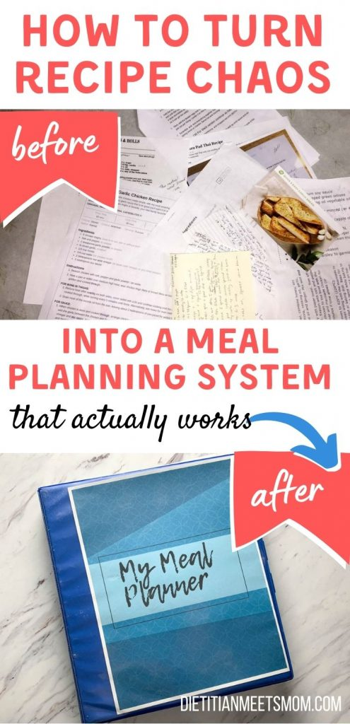 turn recipe mess into a meal planning system that actually works
