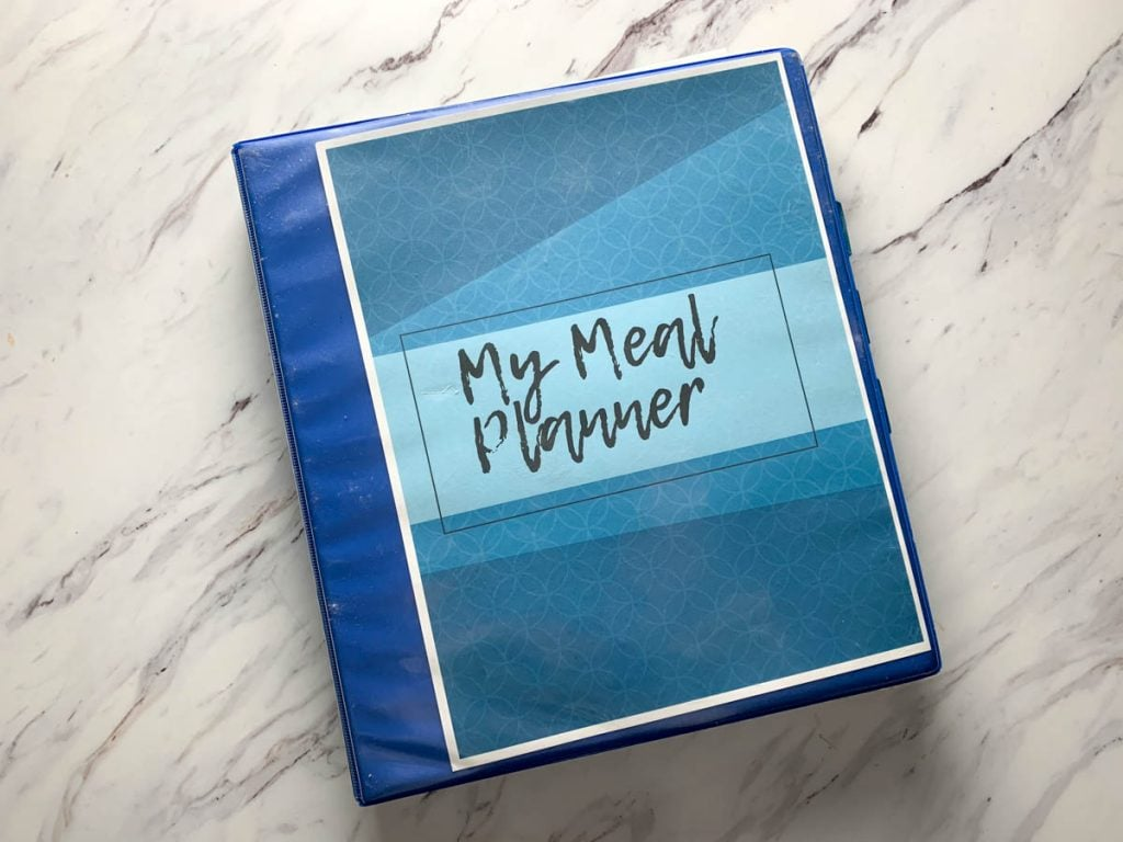 "binder with the words ""my meal planner"""
