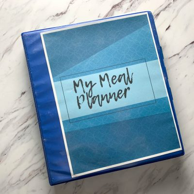 photo of meal planning binder