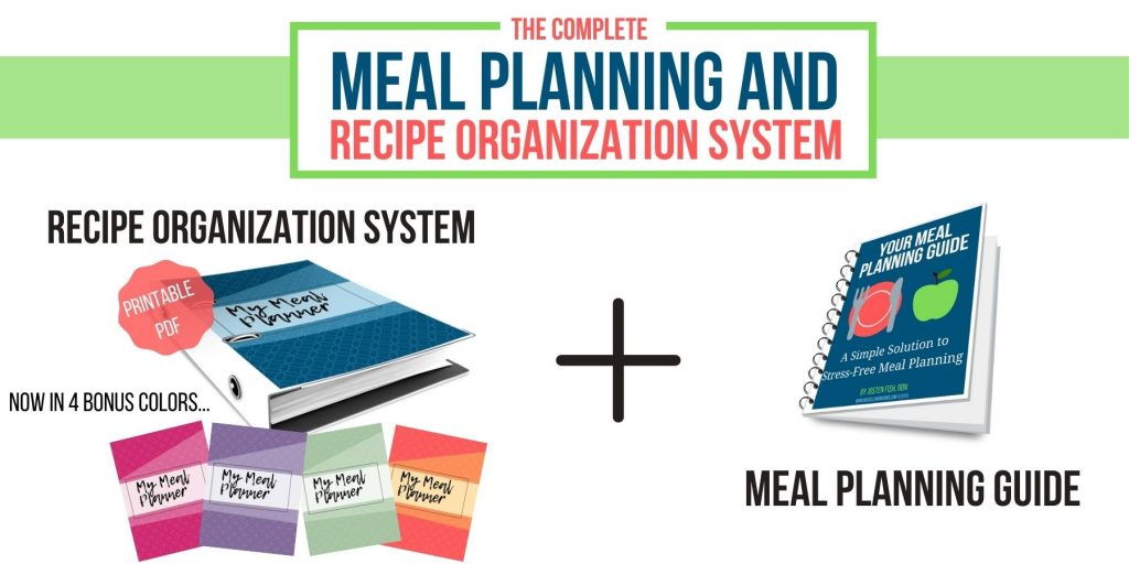 the complete meal planning and recipe organization system includes a recipe system and a meal planning guide