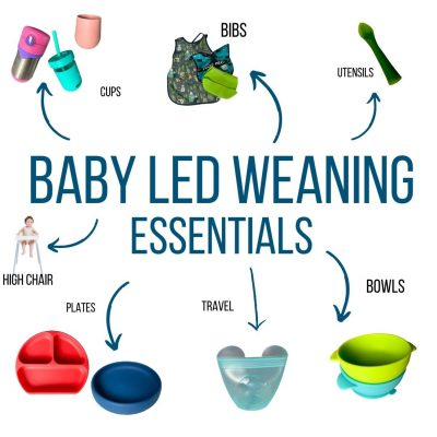 baby led weaning products are shown