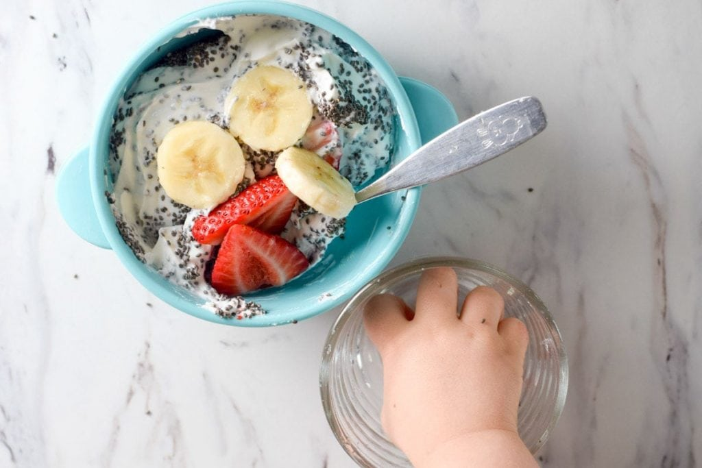 easy blw breakfast yogurt