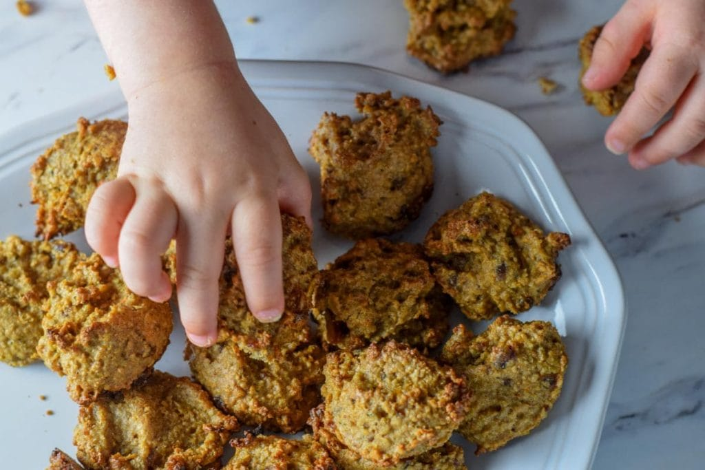 plate of toddler oatmeal cookies