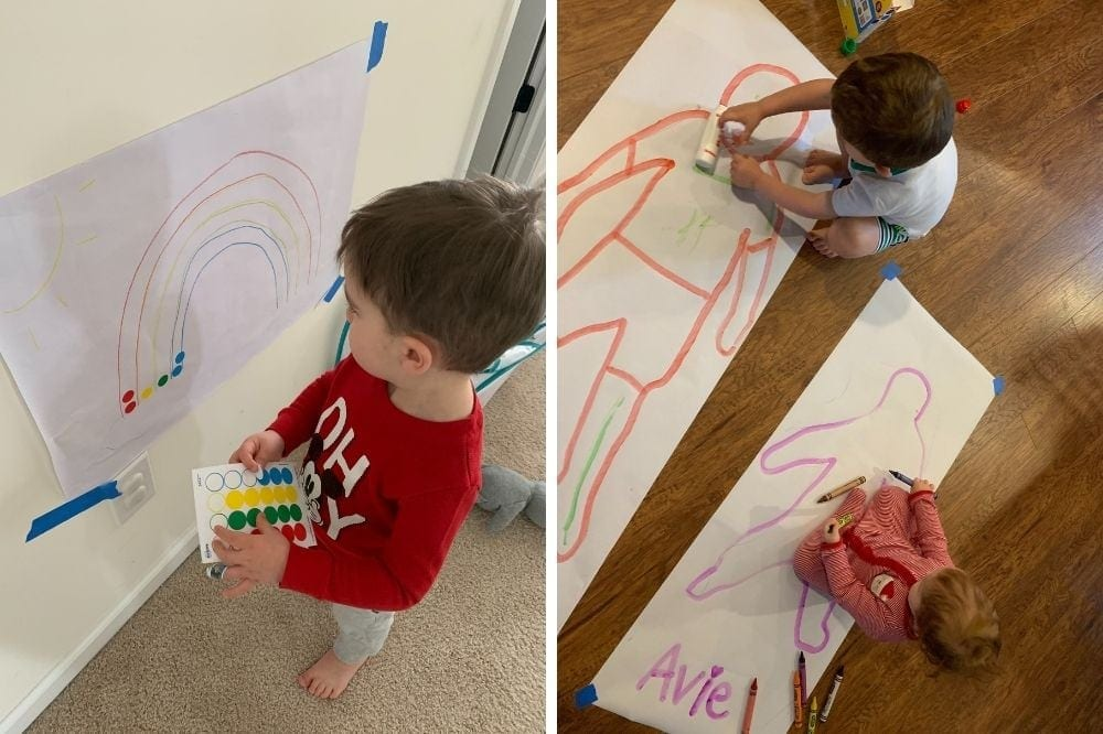 practical toddler gifts including art supplies
