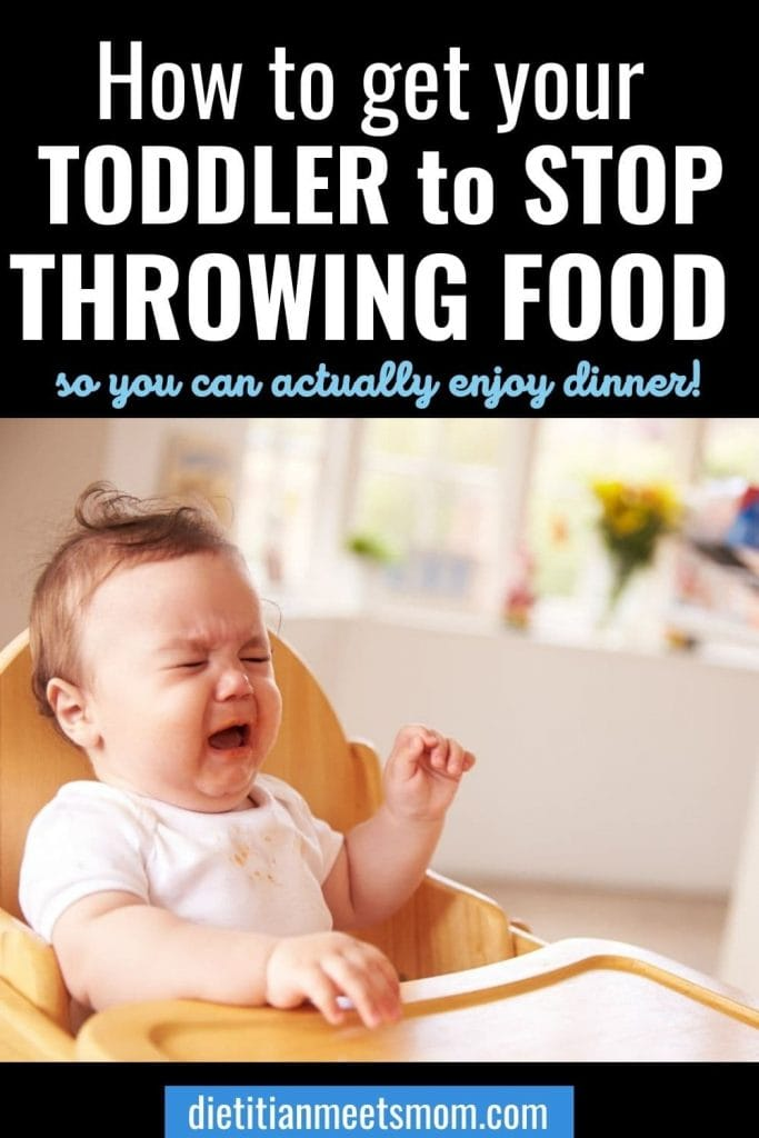 toddler throwing food on the floor
