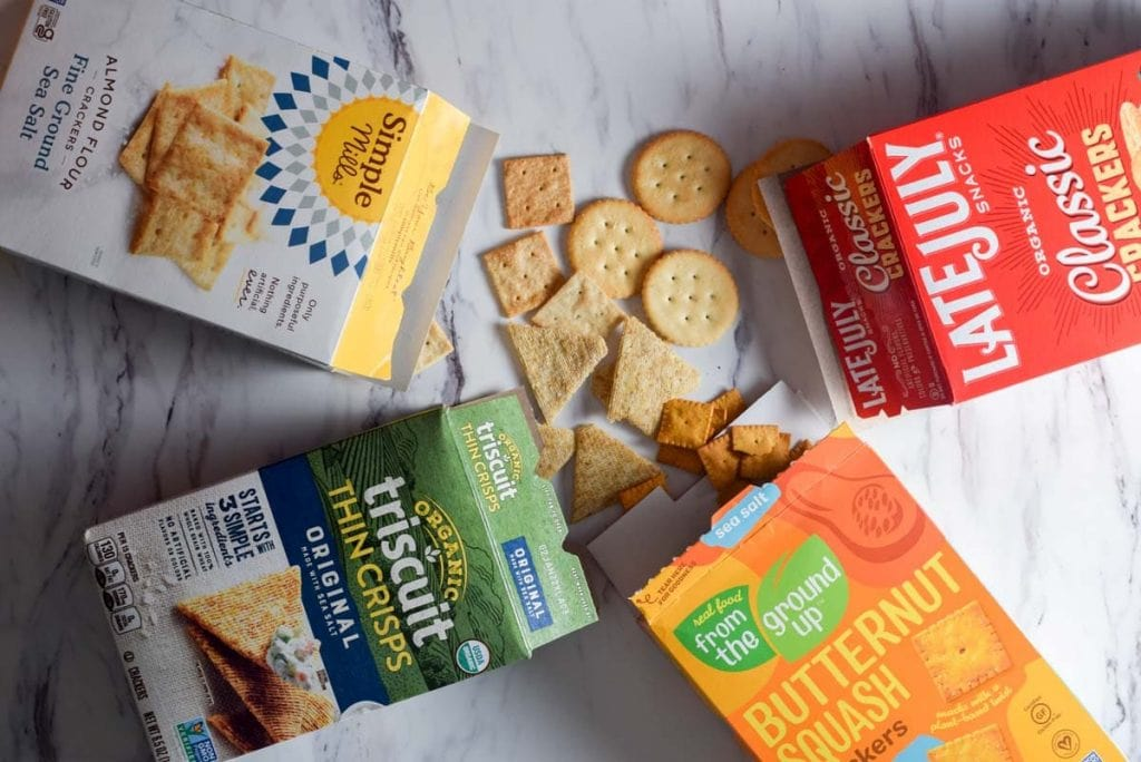 Best packaged crackers to buy for toddlers snacks: triscuits, from the ground up, late july, and simple mills